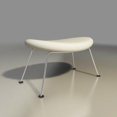 Pierre paulin orange slice chair design classic by artifort - 3d Model Artifort Chair Orange Slice