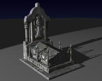 3d grave model