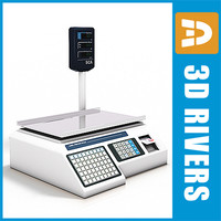 3d model weighing scale
