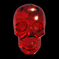 3d model of crystal skull