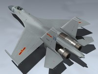 3d model of su-27 flanker b china