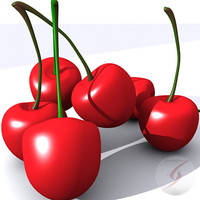 3d cerezas cherries model