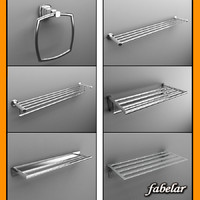 3ds max metal towel racks