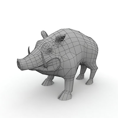 3d model polygonal wild boar - Wild boar by 3DRivers... by 3DRivers