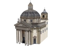 chapel building europe 3d model