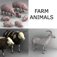 farm animals 3d 3ds