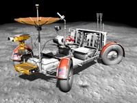 nasa apollo lunar lrv 3d model