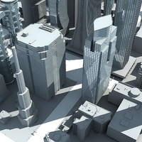 3d model city cityscape