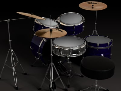 3ds max drum kit - Drum kit... by espmilosj