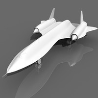 Lockheed A-12 Aircraft 3D Model