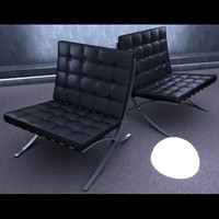 MR Barcelona Chair Cinema4D/OBJ/3DS