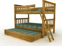 3d model of twin mission bunk bed