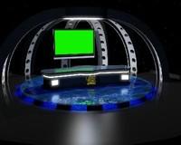3d virtual news studio model