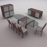 Calligaris CS/XXX Series Dining Set - High Quality Furniture 3d model