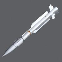 mica rf missile 3d model