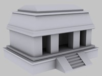 architecture aztecs 3d model