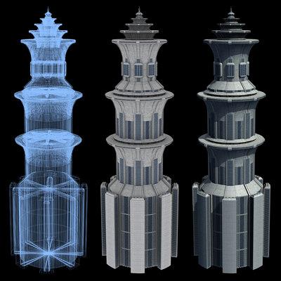 Sci-Fi Buildings - Series 1: Mile-High Skyscraper 2