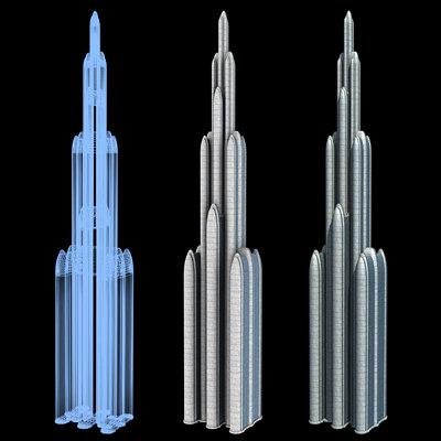 Sci-Fi Buildings - Series 1: Mile-High Skyscraper 4