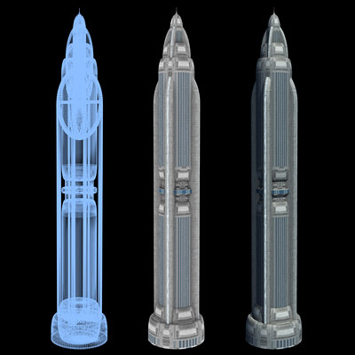 Sci-Fi Buildings - Series 1: Mile-High Skyscraper 5