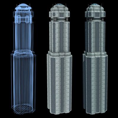 Sci-Fi Buildings - Series 1: Super Skyscraper 17