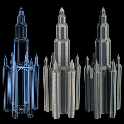 Sci-Fi Buildings - Series 1: Super Skyscraper 19