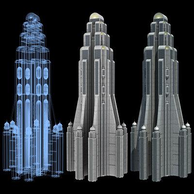 Sci-Fi Buildings - Series 1: Super Skyscraper 7