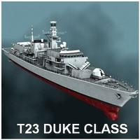 duke class type 23 3d model