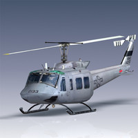 3d usaf th-1h helicopter model