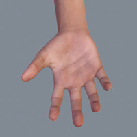 Realistic Hand with Sub Surface Scattering