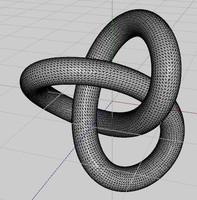 torus knot 3d model