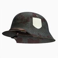 helmet german ww2 3d model