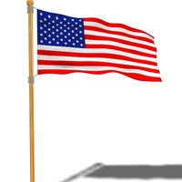 loopable usa flag animation 3d model
