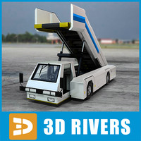 3d aircraft boarding truck vehicle model