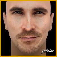 christian bale head 3d model