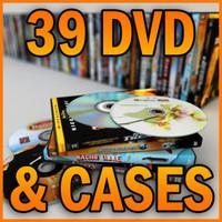 39 DVD  DISKS & CASES