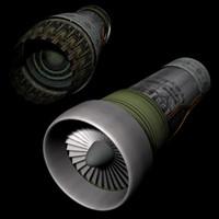 jet engine 3d ma