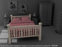 Harvest Pine Bed - High Quality Furniture 3d model