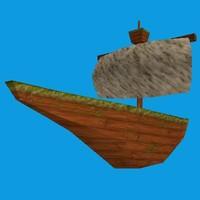 cartoony ship obj