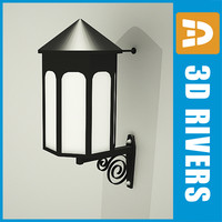 3d model metal lamp street light