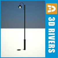 3d old street lamp light night model