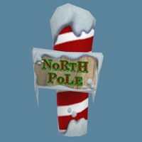3d north pole xmas