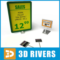 3d model price tags