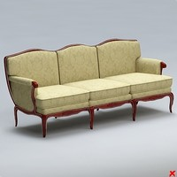 3d sofa old fashioned