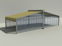 3d model awning tente kubbe