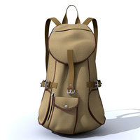 pack backpack 3d max