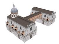 3d model of vatican church building