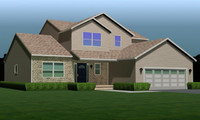 3d model fully house