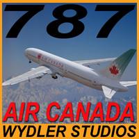 3d model of 787-3 air canada