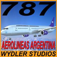 3d model 787-3 aerolineas argentinas