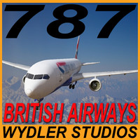 3d model 787-3-british airwyas
